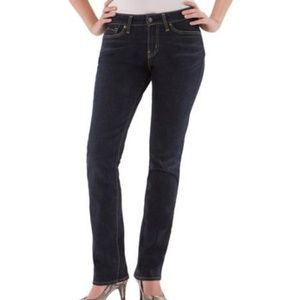 Levi | Mid Rise Straight Stretch Denim Blue Jeans